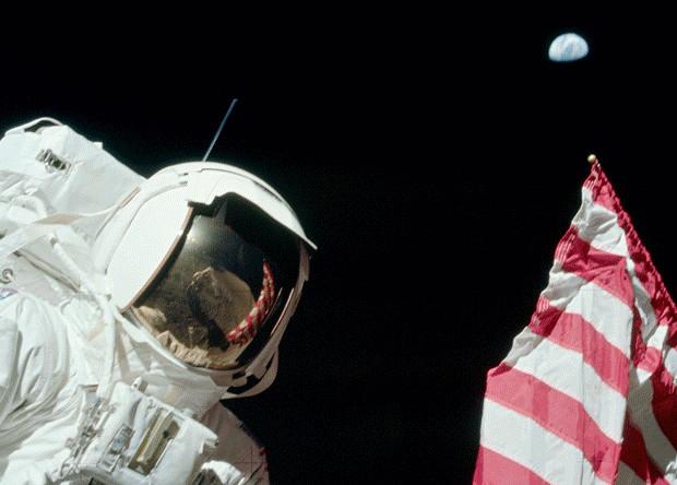 Один из кадров, снятых во время миссии Apollo 17. NASA